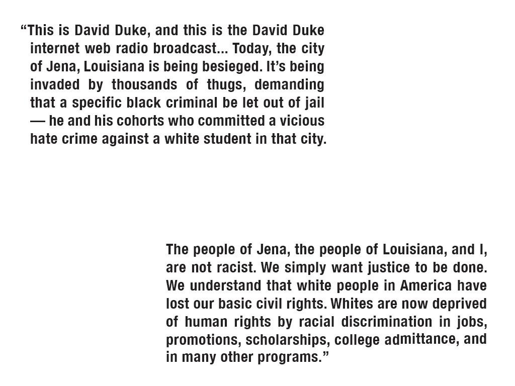 From David Duke's radio broadcast