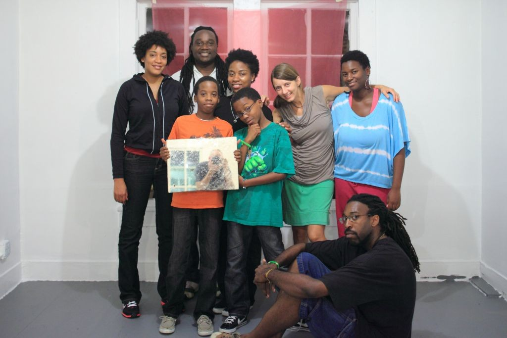 Artists Regina Agu, Lisa E. Harris, journey, Michael Khalil Taylor, Rebecca Novak, and Ifeanyi Okoro