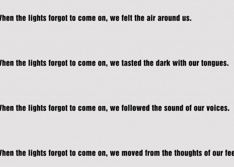 When the Lights Forgot